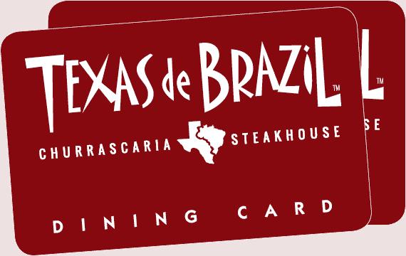 Texas de Brazil Red Dining Card