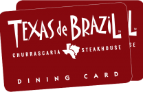 Texas de Brazil Red Dining Card